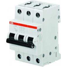 Автоматический выключатель 3-полюсной S203 C100