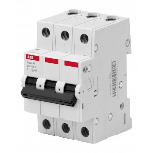Автоматический выключатель 3P, 25A, C, 4,5кА, BMS413C25 2CDS643041R0254