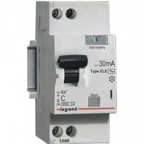 Автоматический выключатель дифференциального тока АВДТ RХ3 30мA 25А 1П+Н AС 419401