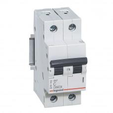 Автоматический выключатель двухполюсный RX3 4,5ka 10А 2П C