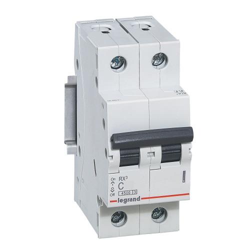 Автоматический выключатель двухполюсный RX3 4,5ka 16А 2П C 419697