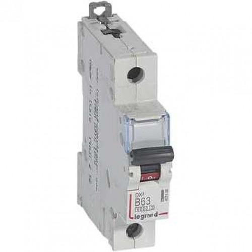 Автоматический выключатель DX3 1П B63A 6000/10kA 407438