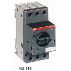 Автоматический выключатель MS116-0.4 50 кА с регулир. тепловой защитой 0,25A-0,40А Класс тепл. расцепит. 10