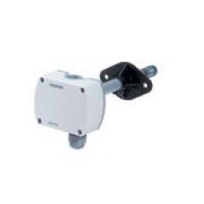 Датчик влажности и температуры канальный, DC0…10V, 0…100%, -40…+70 ºC, вкл. монтажный фланец
