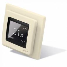 DEVI, терморегулятор DEVIreg Touch сенсорный, скрытого монтажа, крем