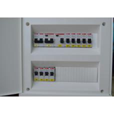 Электрощит для двухкомнатной квартиры. Ввод ~380В. ABB
