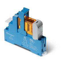 Интерфейсный модуль, электромеханическое реле; 1CO 10A;  питание 24В DC (чувствит.); пластиковая клипса; LED + диод; упаковка 1шт.