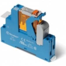 Интерфейсный модуль, электромеханическое реле; 1CO 16A;  питание 230В AC;  LED + варистор; кнопка тест + мех.индикатор