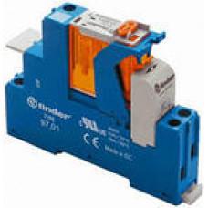 Интерфейсный модуль, электромеханическое реле; 1CO 16A;  питание 24В DC;  LED + диод; кнопка тест + мех.индикатор