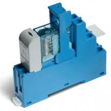 Интерфейсный модуль, электромеханическое реле; 2CO 10A;  питание 24В DC (чувствит.);  LED + диод