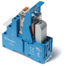 Интерфейсный модуль, электромеханическое реле; 2CO 10A;  питание 24В DC;  LED + диод
