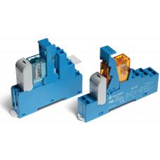 Интерфейсный модуль, электромеханическое реле; 2CO 8A;  питание 110В AC; пластиковая клипса; LED + варистор