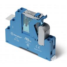 Интерфейсный модуль, электромеханическое реле; 2CO 8A;  питание 230В AC;  LED + варистор; кнопка тест + мех.индикатор