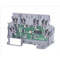 Клеммник 2-х ярусный с электронными компонентами (схема 10); WG-EKI
