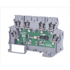 Клеммник 2-х ярусный с электронными компонентами (схема 20, 24VAC); WG-EKI
