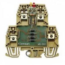 Клеммник 2-х ярусный с электронными компонентами (схема 4); WG-EKI