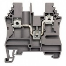 Клеммник 3-х выводной, 4мм.кв., (серый); AVK 4C