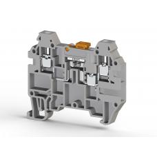 Клеммник 3-х выводной с размыкателем, 2,5 мм.кв., (серый); AVK 2,5 EA