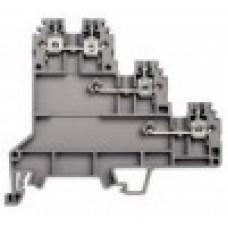 Клеммник 3-х ярусный для датчиков, 2,5мм.кв., (бежевый); PUK 3S