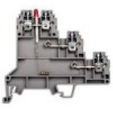 Клеммник 3-х ярусный для датчиков, 2,5мм.кв., с индикацией 24 VDC, (бежевый); PUK 3 SLD (PNP)