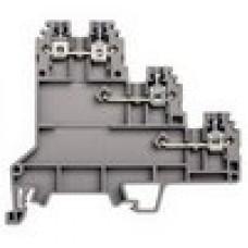 Клеммник 3-х ярусный для датчиков, 2,5мм.кв., (серый); PUK 3S