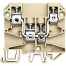 Клеммник 4-х выводной, на DIN-рейку (MR35/ MR32), 2x10/2x16 мм.кв., (бежевый);  AYK 10/16