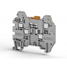Клеммник 4-х выводной с размыкателем, 2,5 мм.кв., (серый); AVK 2,5 CCA
