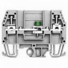 Клеммник измерительный без тест. разъемов, 6мм.кв., (серый);  WGO1
