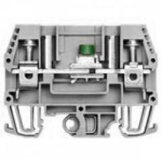 Клеммник измерительный с 2-мя тест.разъемами, 6мм.кв., (серый); WGO1