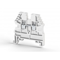 Клеммник на DIN-рейку 2,5мм.кв. (белый); AVK2,5