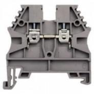 Клеммник на DIN-рейку 2,5мм.кв. (серый); AVK2,5