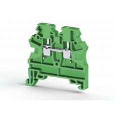 Клеммник на DIN-рейку 2,5мм.кв. (зеленый); AVK2,5 RD