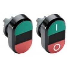 Кнопка двойная MPD4-11Y (зеленая/красная) желтая линза с текстом (START/STOP)