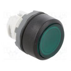 Кнопка MP1-11G зеленая (только корпус) с подсветкой без фиксации