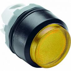 Кнопка MP3-20Y желтая выступающая (только корпус) без подсветки без фиксации
