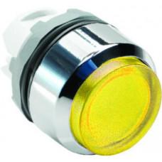 Кнопка MP3-21Y желтая выступающая (только корпус) с подсветкой б ез фиксации