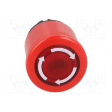 Кнопка MPMT3-11R ГРИБОК красная (только корпус) с подсветкой с у силенной фиксацией 40мм отпускание поворотом