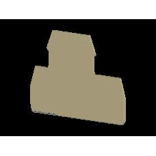 Концевой сегмент на клеммники 2-х ярусные PIK(2,5-4)N*, (бежевый); NPP PIK 2,5-4N