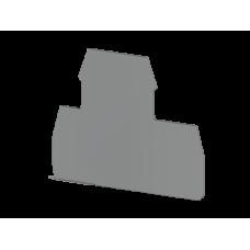 Концевой сегмент на клеммники 2-х ярусные PIK(2,5-4)N*, (серый); NPP PIK 2,5-4N