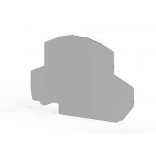 Концевой сегмент на клеммники 2-х ярусные PYK 2,5-2F/FK/FLD (серый); NPP PYK2,5-2F