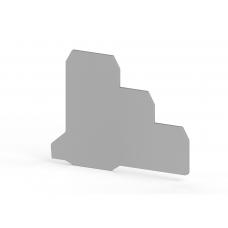 Концевой сегмент на клеммники 3-х ярусные PUK3S*, (серый); NPP PUK3S