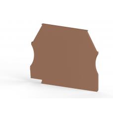 Концевой сегмент на клеммники AVK(2,5-10)/ AVK RD (2,5-4), (коричневый); NPP 2,5-10