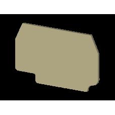 Концевой сегмент на клеммники AVK 4R-A (бежевый); NPP / AVK 4R-A