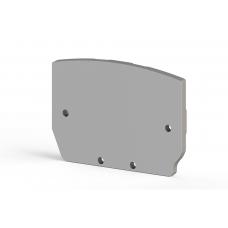 Концевой сегмент на клеммники пруж. мини MYK2,5, (серый); NPP1 MYK