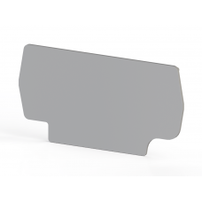 Концевой сегмент на клеммники PYK 2,5E (серый); NPP PYK 2,5E