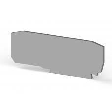 Концевой сегмент на клеммники YBK 2,5A, (серый);  NPP YBK 2,5A