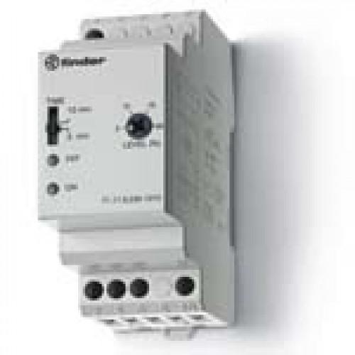Контрольное реле для 1-фазных сетей; пониженное/повышенное напряжение; фиксированные регулировки; выход 1CO 10А; 711182300010