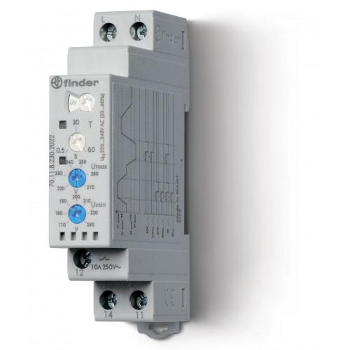 Контрольное реле для 1-фазных сетей; пониженное/повышенное напряжение, настраиваемые диапазоны; выход 1CO 10А; 701182302022