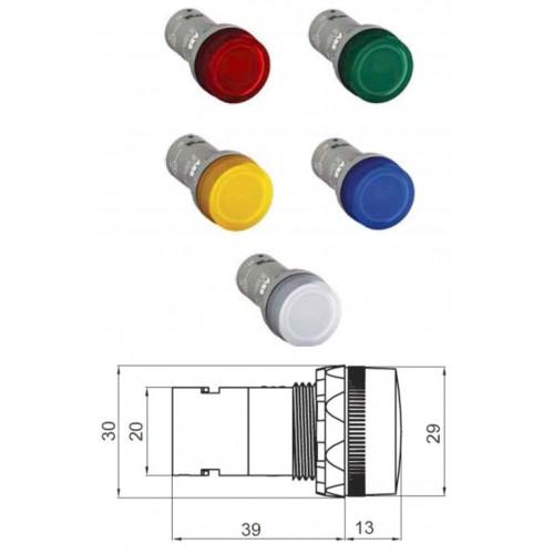 Лампа CL2-501C белая со встроенным светодиодом 12В DC 1SFA619403R5018