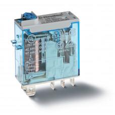 Миниатюрное промышленное электромеханическое реле; 1СO 16A;  катушка 12В DC;опции: кнопка тест + мех.индикатор